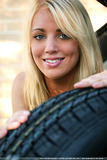 Nude blonde beauty Tara invites you for a hot ride