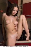 babe, big tits, shaved, long hair, heels, indoors