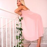 Teeny opens her dress flashing titties