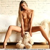 Skinny shaved blonde with tiny tits and a nice ass
