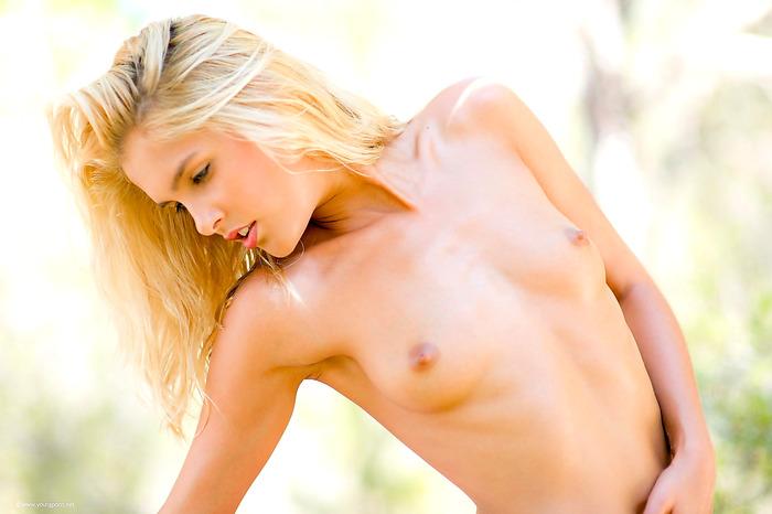 Sexy teasing blonde
