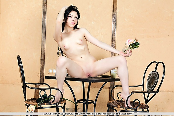 small tits, ass, shaved, pale skin, indoors