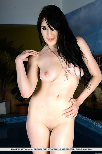 babe, big tits, pussy, shaved , long hair,