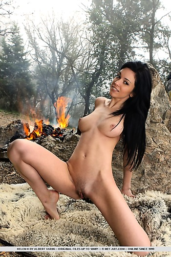 babe, big tits, pussy , trimmed, outdoors,