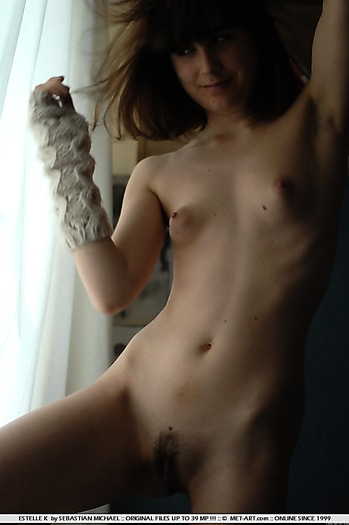 Soft nuds of a skinny beauty wiuth puffy nipples