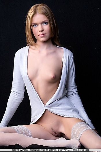 Redhead with small tits something