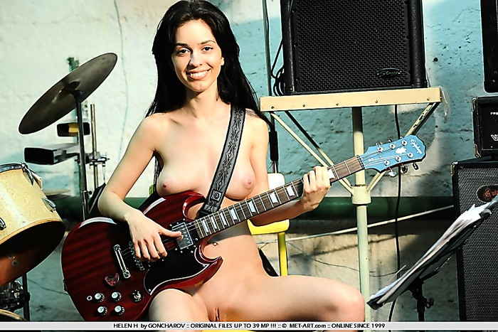 Full breasts and a smooth pussy on this nude model